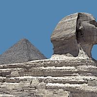 Great Sphinx of Giza, Pyramid of Khufu, Cairo © Prosper Jerominus, 2001