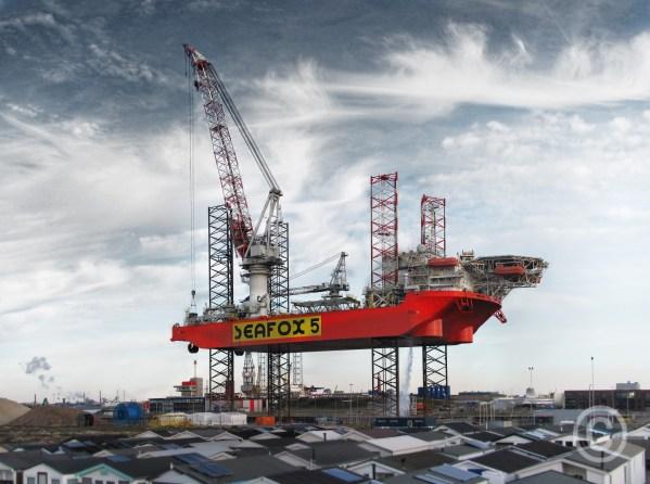 Seafox 5 Platform Seaport Amsterdam IJmuiden, The Netherlands © Prosper Jerominus 2018