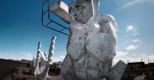 The white sculptures De hvide skulpturer Refshalevej, Copenhagen
