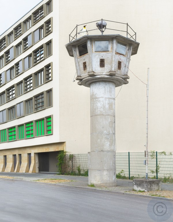 I actually like it when Penguins spy on us - DDR Wachturm - Watch tower under corona surveillance - German Spy Museum Berlin