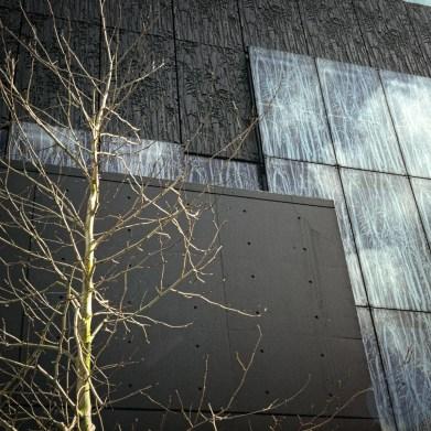 Vegetation facade skies #1 Utrecht Library Wiel Arets Architects, 2004 © Prosper Jerominus 2006