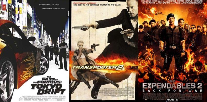 Takie same plakaty filmowe filmów akcji