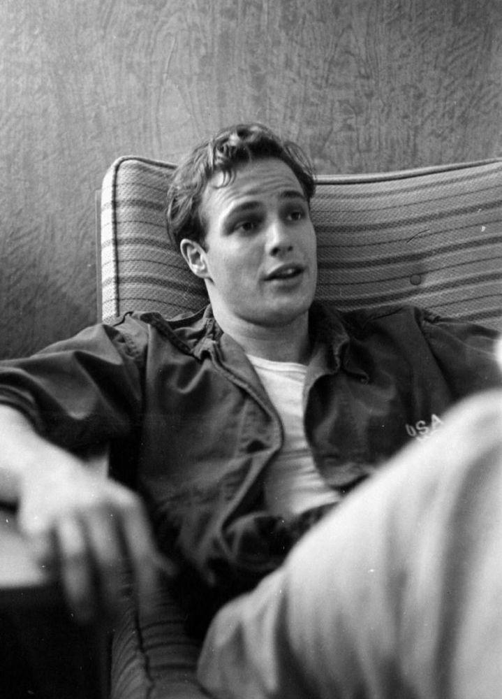 Młody Marlon Brando