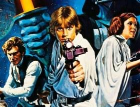 Gwiezdne wojny - plakat. Początek ery blockbusterów i dużych budżetów na promocję filmów i marketing.