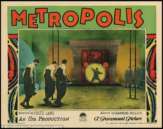 Historia marketingu filmowego zaczyna się odplakatu filmowego. Nazdjęciu plakat filmu Metropolis z1927 roku.