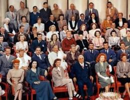 Historia marketingu i reklamy filmowej - gwiazdy MGM z okazji 20-lecia powstania wytwórni.