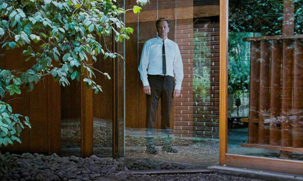 Kadr zwidokiem nawnętrze zfilmu Samotny Mężczyzna