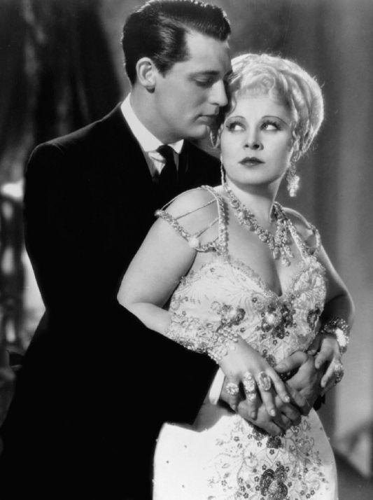 "Cary Grant iMae West naplanie filmu ""Nie jestem aniołem""."