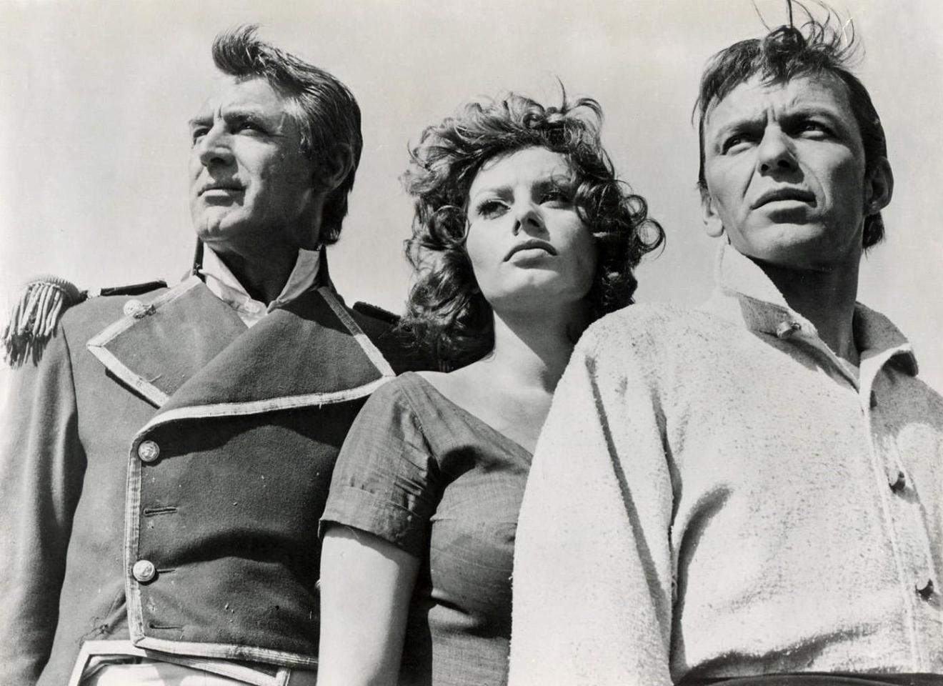 """Cary Grant, Sophia Loren iFrank Sinatra w""""Dumie namiętności"""""""