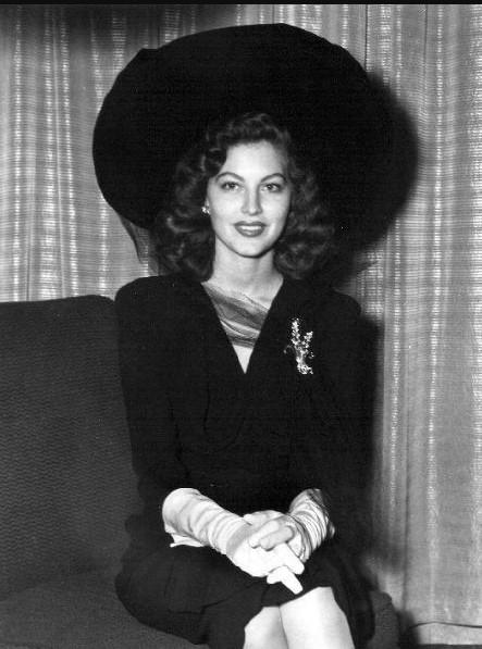 Ava Gardner młoda, rok około 1941