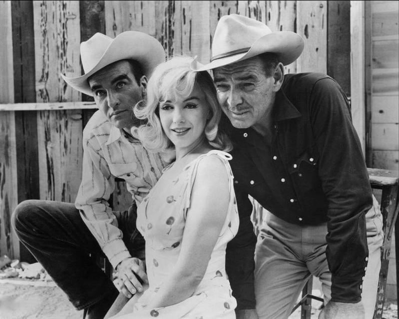 Montgomery Clift, Marilyn Monroe iClark Gable naplanie filmu Skłóceni zżyciem (1961)