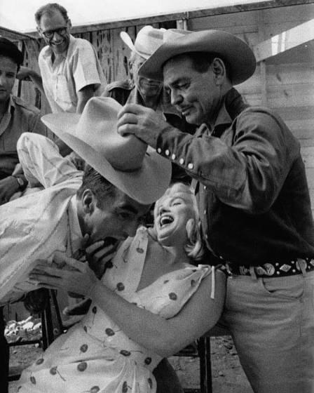 Skłóceni zżyciem - Montgomery Clift, Marilyn Monroe iClark Gable
