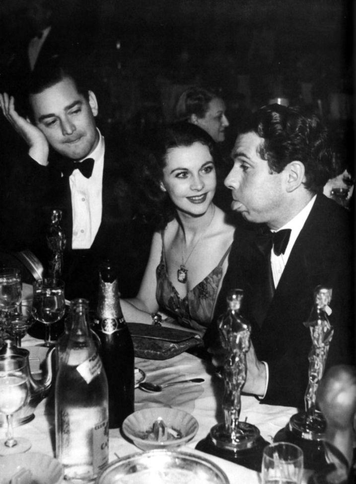 Vivien Leigh iLaurence Olivier narozdaniu Oscarów w1940