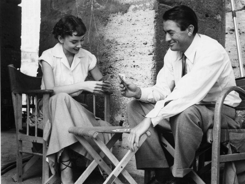 """Gregory Peck Audrey Hepburn naplanie """"Rzymskich wakacji"""