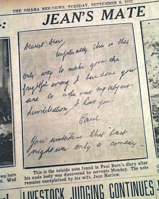 Samobójczy list Paula Berna