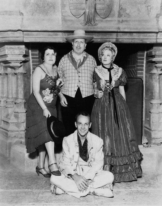 Louella Parsons, William Hearst, Marion Davies i syn Hearsta