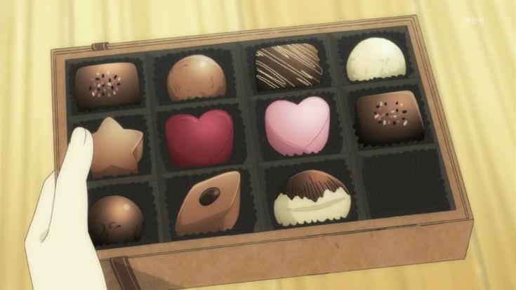 Cokelat dari anime Tanaka-kun wa Itsumo Kedaruge