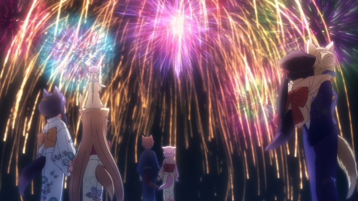 festival kembang api di konohana kitan