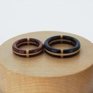 結婚指輪 木の指輪 黒檀 黒たん