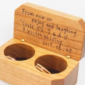 木婚式に木の指輪 三層