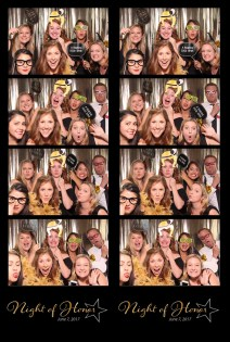 Utah photo booth, photo booth for corporate party, school event Photo Booth,photo booth print, 4 photos and logo from photo booth print, group with props in photo booth, gold background photo booth