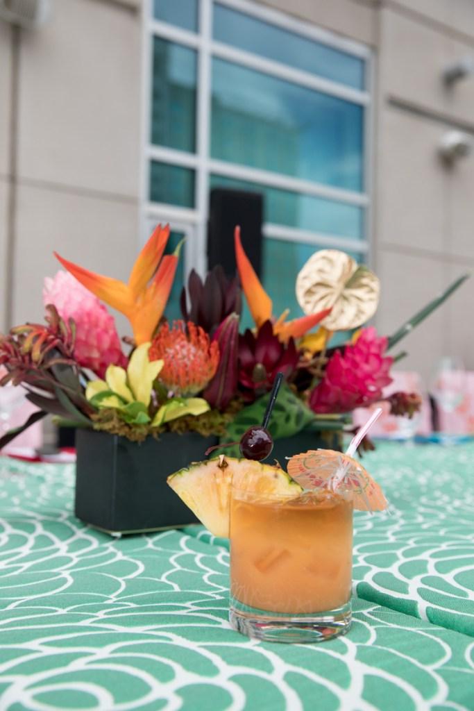 Mai Tai with umbrella, man tai and flowers, Bella calla flowers, event set up, set photographer, DMC photographer
