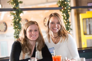 ladies enjoying holiday party, corporate holiday party, corporate event, denver holiday party photographer, event holiday photographer