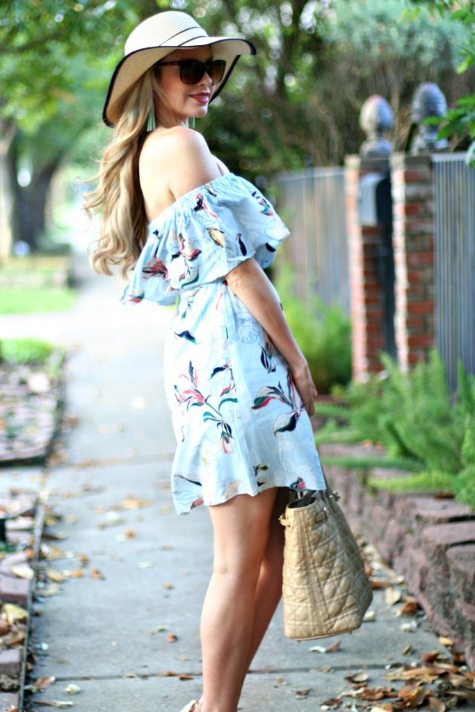 kinsey walsh in off the shoulder cupcakes and cashmere dress