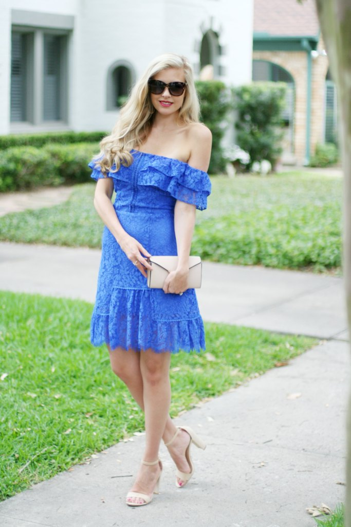 blue off the shoulder spring dress what to wear to spring wedding summer wedding
