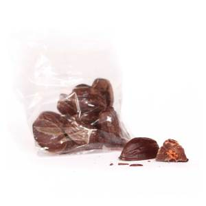 Chocolate covered cacao beans with chile