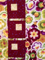 Close-Ups of Moondance Quilt Top in Philip Jacobs, Martha Negley and Brandon Mably by Ruth Bass