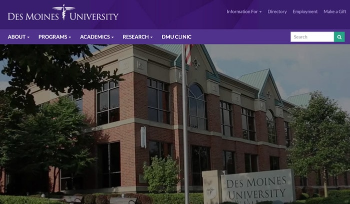 des moines university wordpress sites