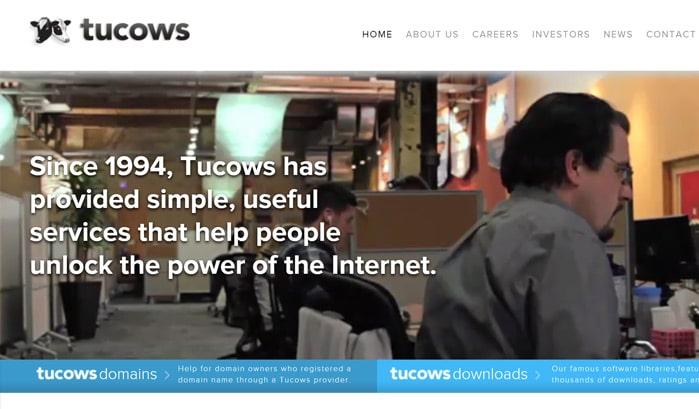 tucows wordpress sites