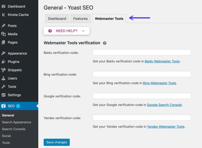Alat Webmaster SEO Yoast
