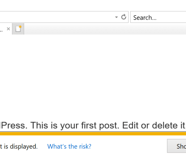 Internet Explorer Mixed Content Warning