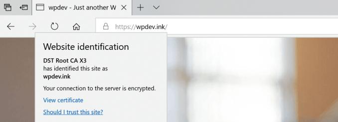 Microsoft Edge no mixed content warnings