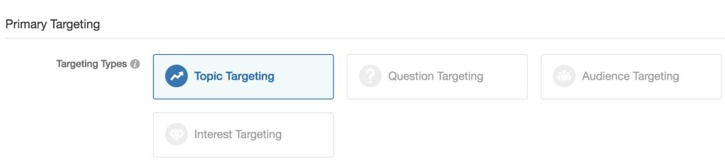 Primary Targeting de Quora