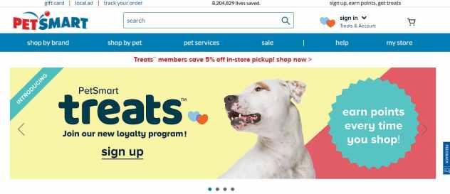 PetSmart different domain name