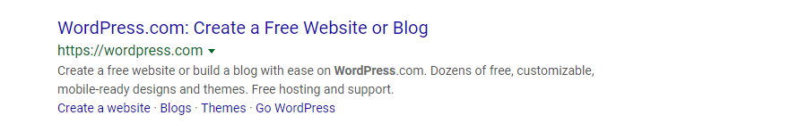 homepage meta description