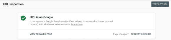 Indexed page in Search Console