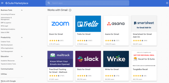 gmail addons g suite marketplace 2