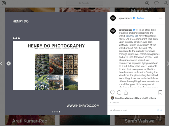 squarespace instagram campaign