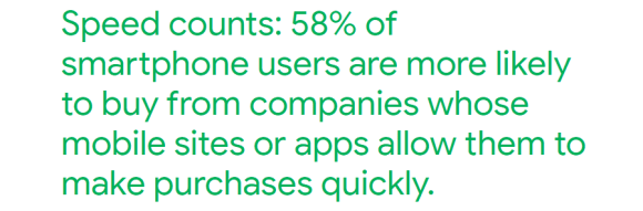 58% smartphone users are more likely to buy from mobile-optimized websites