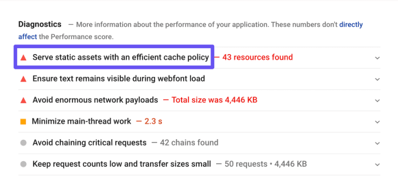 pagespeed serve static resources