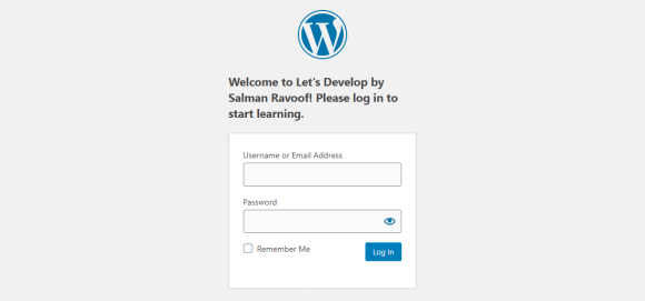 Showing a custom login message above the login form box