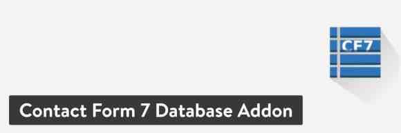 Contact Form 7 Database Addon WordPress plugin