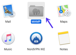 The MAMP application folder