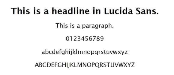 lucida sans font