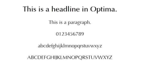 optima - web safe fonts