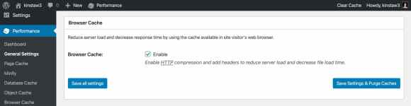 Enable browser caching in W3 Total Cache.